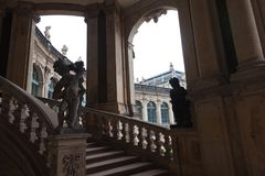 德累斯顿德国 雕象和纪念碑 免版税图库摄影