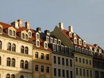 德累斯顿房子屋顶 库存图片