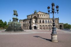 德累斯顿房子歌剧semper 库存照片