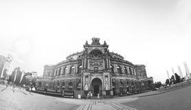 德累斯顿歌剧剧院,德国 免版税库存图片