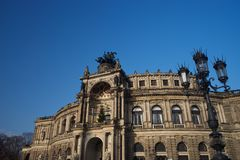 德累斯顿歌剧院Semperoper 库存图片