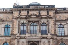 德累斯顿画廊的壮观的哥特式门面 德累斯顿的一种古老吸引力,萨克森的首都 免版税库存照片