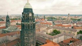 德累斯顿鸟瞰图  股票视频