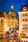 德累斯顿,德国,圣诞节市场 免版税库存图片