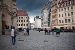 德累斯顿,德国- 2013年5月12日:美丽的典雅的德累斯顿,德国 免版税库存图片