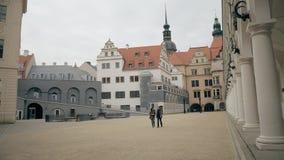德累斯顿,德国- 2018年5月2日 城堡Stallhof 免版税库存照片