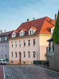 德累斯顿,维尔斯德鲁夫,德国的郊区的建筑学 库存图片