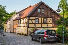 德累斯顿,维尔斯德鲁夫,德国的郊区的建筑学 免版税库存图片