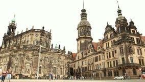 德累斯顿,老萨克森看法德国市 影视素材