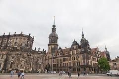 德累斯顿 德国 种类城市 中心历史 图库摄影