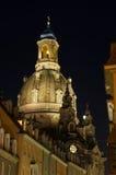 德累斯顿frauenkirche晚上 图库摄影