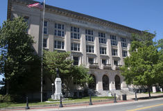 德罕县法院在北卡罗来纳,美国 免版税图库摄影