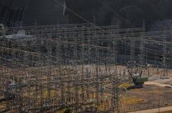 德聂伯级水力发电河岗位乌克兰zaporozhye 免版税库存图片