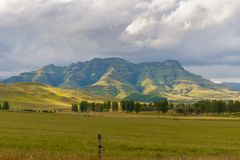 德肯斯伯格山脉,夸祖鲁纳塔尔,南非 库存图片