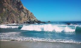 德胡耶海滩公园大瑟尔加利福尼亚HWY1 免版税图库摄影