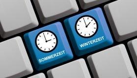 德语在网上的夏令时或的冬天 免版税图库摄影