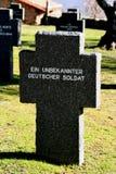德语Cemetery Cuacos de Yuste,卡塞里斯,埃斯特雷马杜拉,西班牙 图库摄影