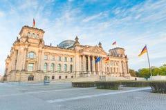 德语Reichstag,议会大厦在柏林 库存图片