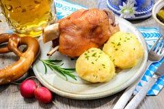 德语Schweinshaxe 免版税库存照片