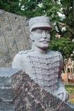 德赖富斯雕象-他出生在牟罗兹1859年10月9日 免版税图库摄影