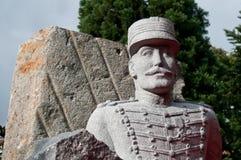 德赖富斯雕象-他出生在牟罗兹1859年10月9日 免版税库存照片