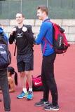 德里克Drouin,加拿大跳高运动员 库存图片