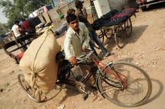德里印度老场面业务量 库存照片