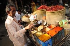 德里印度老场面街道 免版税库存图片