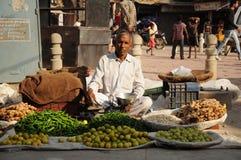德里印度老场面街道 库存图片
