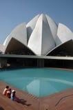 德里印度莲花新的寺庙 免版税库存照片