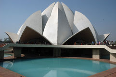 德里印度莲花新的寺庙 库存图片