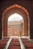 德里印度jama老masjid清真寺 免版税库存图片