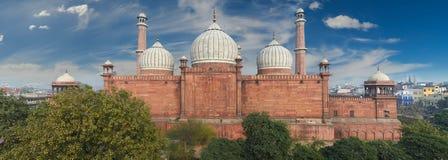 德里印度jama老masjid清真寺 免版税库存照片