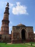 德里印度minar qutab 库存照片