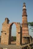 德里印度minar qutab 免版税库存照片