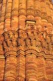 德里印度minar qutub 结构上大厦详细资料屋顶 库存图片