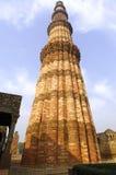德里印度minar qutub 免版税图库摄影