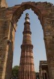 德里印度minar qutub 免版税库存照片