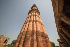 德里印度minar qutub 免版税库存图片