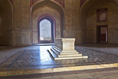 德里圆顶humayun镶嵌了红色s砂岩样式坟茔冠上白色的做的大理石陵墓大人物 库存图片