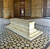 德里圆顶humayun镶嵌了红色s砂岩样式坟茔冠上白色的做的大理石陵墓大人物 图库摄影