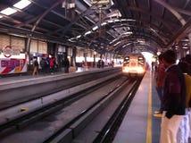 德里地铁 免版税图库摄影