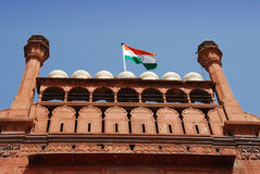 德里堡垒印度红色 免版税库存照片
