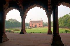 德里堡垒印度老红色 库存照片