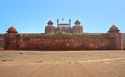 德里堡垒印度老红色 免版税图库摄影