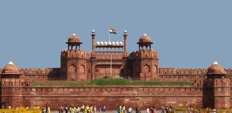 德里堡垒新的红色 免版税库存照片