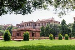 德里堡垒红色 免版税库存图片