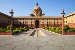 德里房子新的总统 免版税库存图片