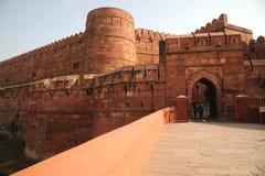 德里红堡入口方式,阿格拉,北方邦,印度 库存图片