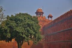 德里红堡在德里市 免版税库存图片